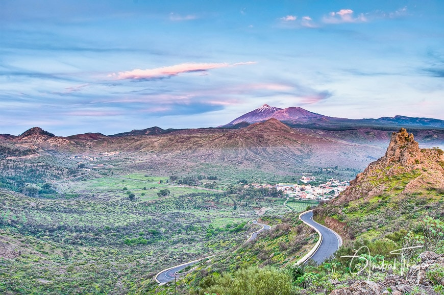 Sunset at the Mount Teide, the highest mountain of Spain located at Tenerife Island.