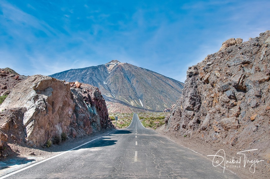 View of Teide Mount, the highest in Spain, located at Tenerife Island