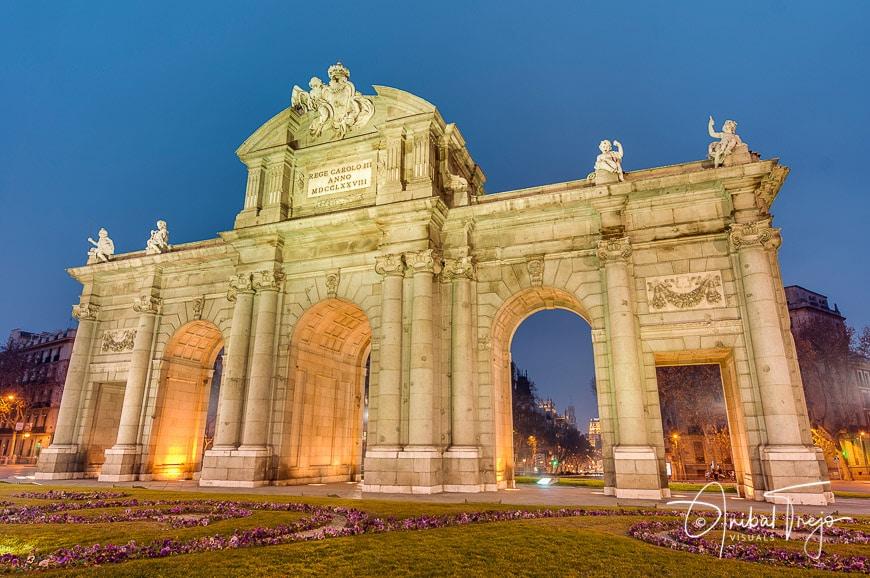 Puerta de Alcala located at Madrid, Spain