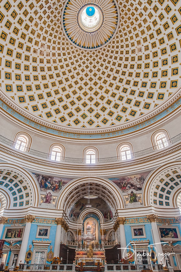 Church of the Assumption of Our Lady, known as the Rotunda of Mosta or Rotunda of St Marija Assunta or simply The Mosta Dome, Malta