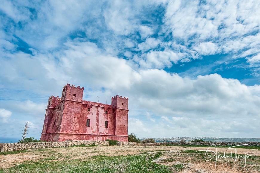 St. Agatha's Tower or Red Tower near Ghadira, Malta