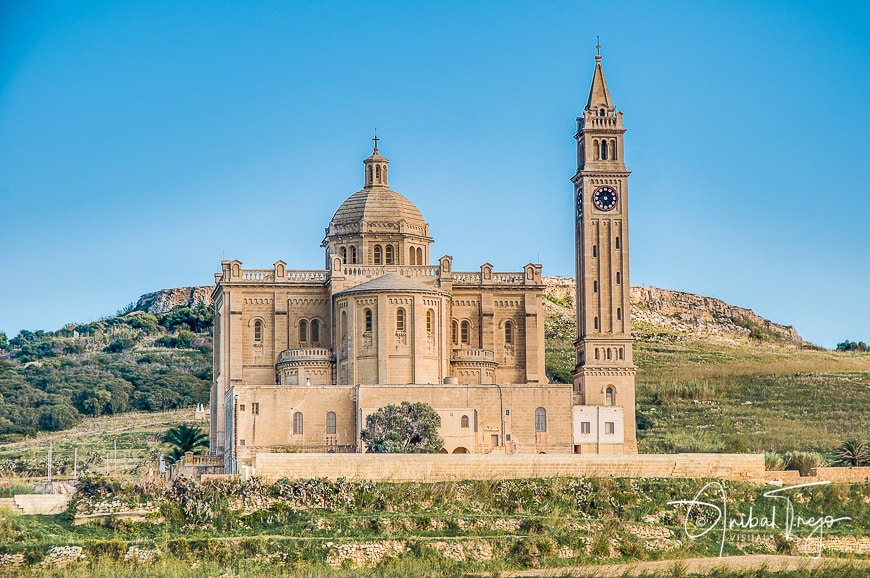 The National Shrine of the Blessed Virgin of Ta' Pinu, parish church and minor basilica located near Gharb on the island of Gozo, Malta
