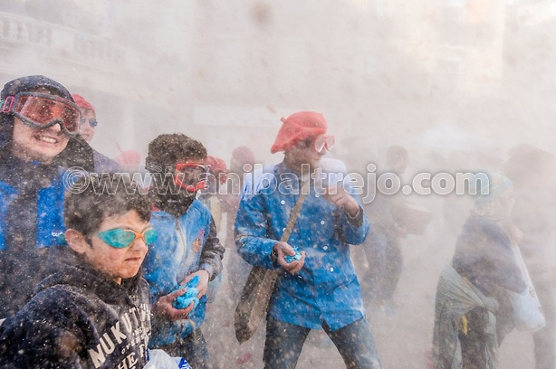 Flour War in Berga, Spain