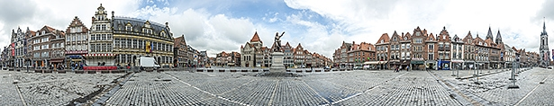Grand Place of Tournai in Belgium