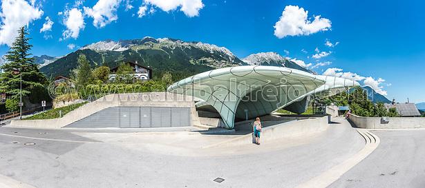 Hiker at Norkette mountain and ski area in Tyrol region, nord of Innsbruck in western Austria. (Anibal Trejo)