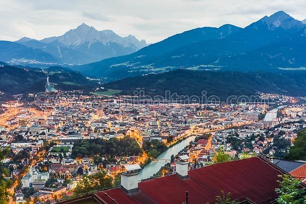 Inn Valley as seen from Nordkette mountain and ski area in Tyrol region, nord of Innsbruck in western Austria. (Anibal Trejo)