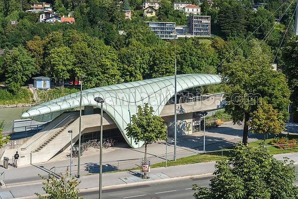 Innsbrucker Nordkette mountain and ski area cable railway station in Innsbruck, Tyrol region, in western Austria. (Anibal Trejo)