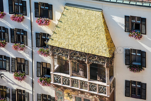 El techo de Oro en Innsbruck, Austria.