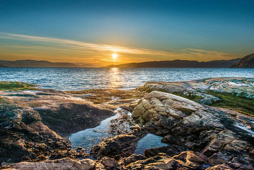 Midnight sun, Alta, Finnmark, Norway.