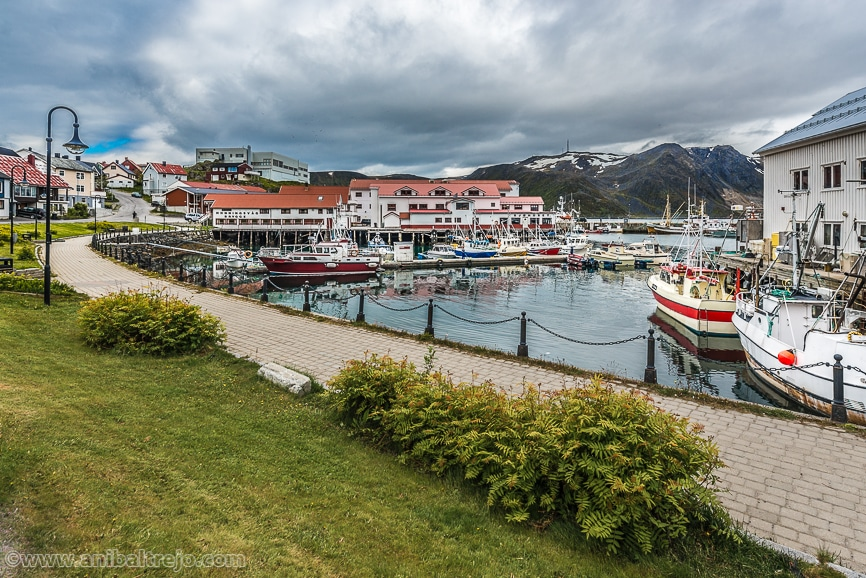 Honningsvag, the northernmost city on the mainland of Norway.