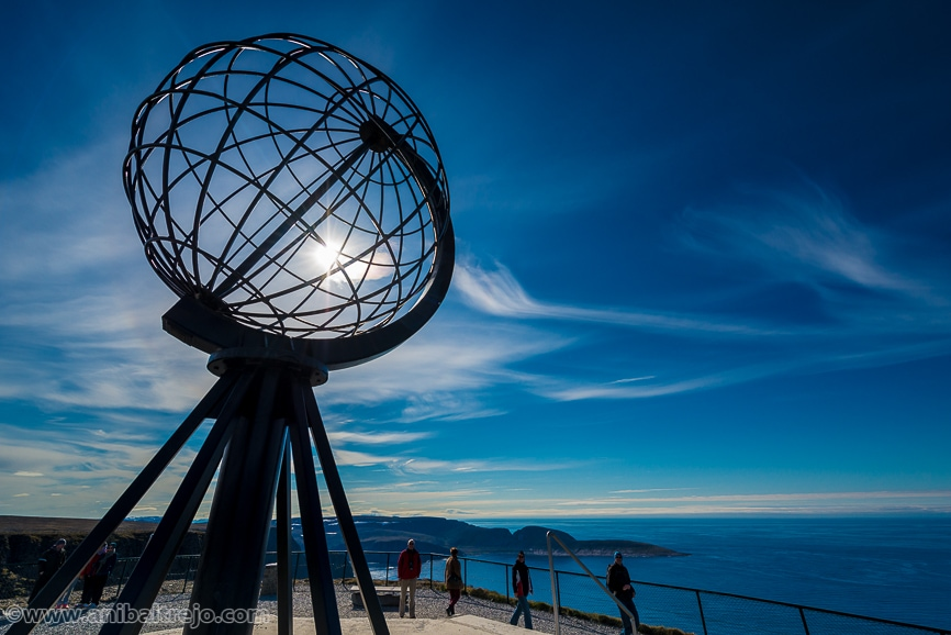 North Cape (Nordkapp), on the northern coast of the island of Magerøya in Finnmark, Northern Norway.