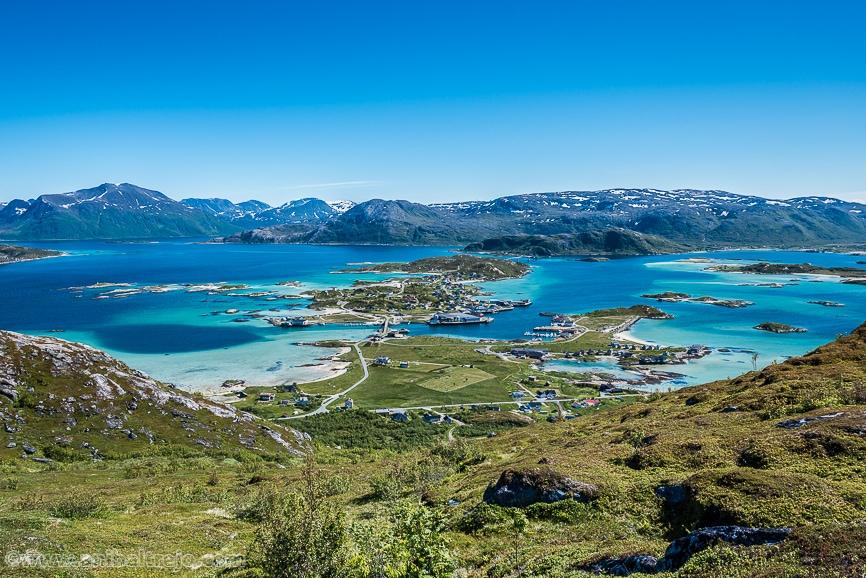 Sommaroy as seen from Hillesoyfjellet in Troms, Norway,