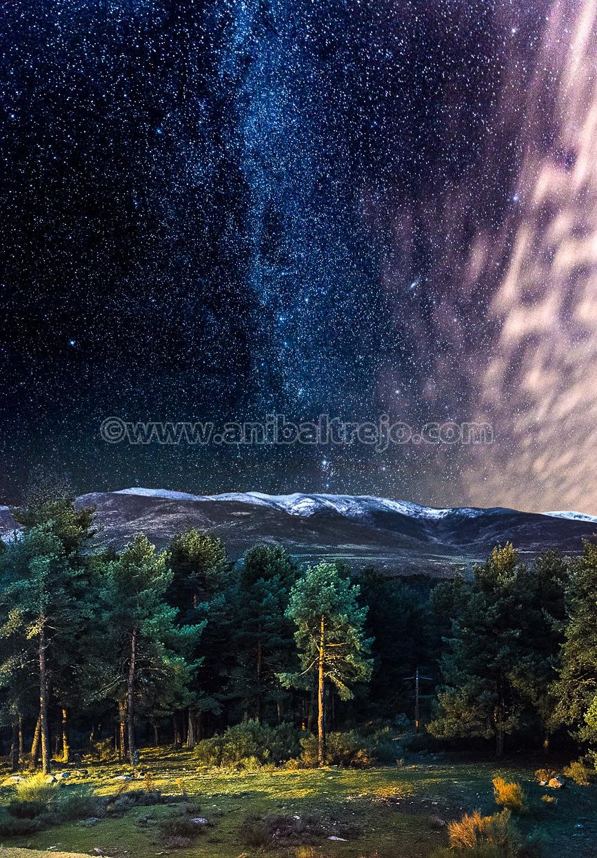 El Cielo Oscuro en la Sierra de Gredos, Provincia de Avila, Comunidad Autónoma de Castilla y León
