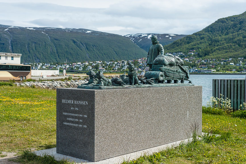 Helmer Hanssen monument in Tromso, Norway