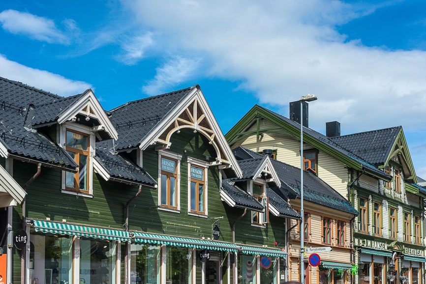 Urban scenics of Tromso, Norway