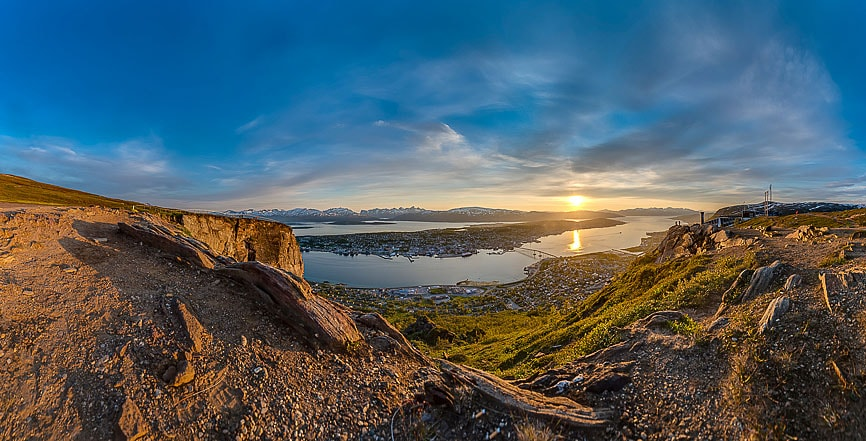 Midnight Sun in Tromso, Norway.