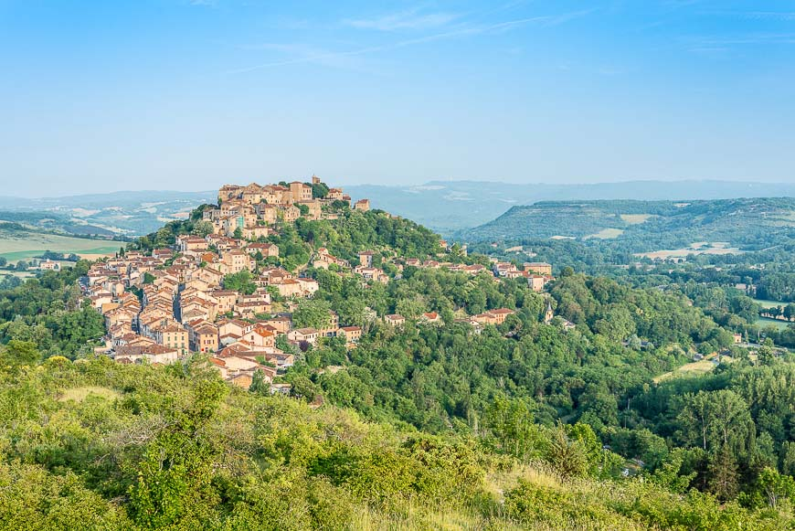 Cordes-sur-Ciel, France from eastern viewpoint