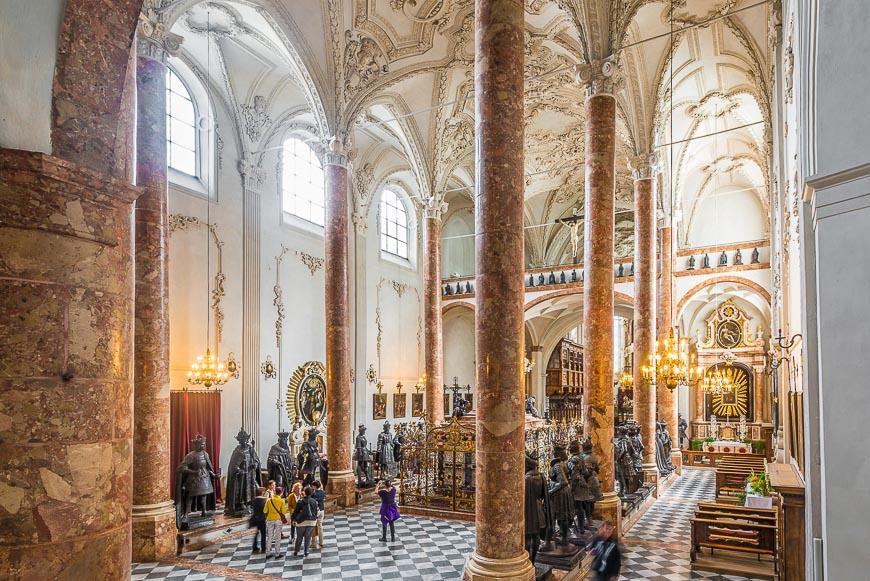 The Hofkirche in Innsbruck, Austria.