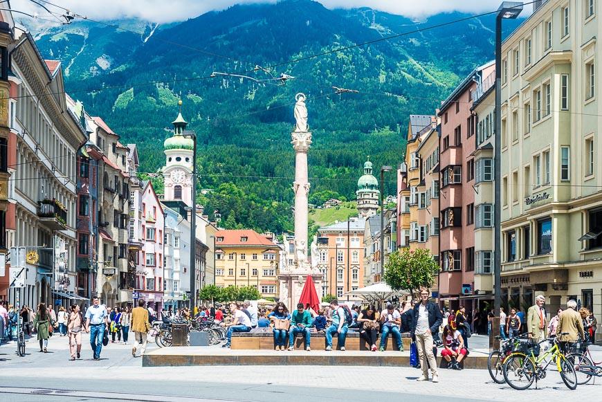 Maria Theresien Street in Innsbruck, Austria