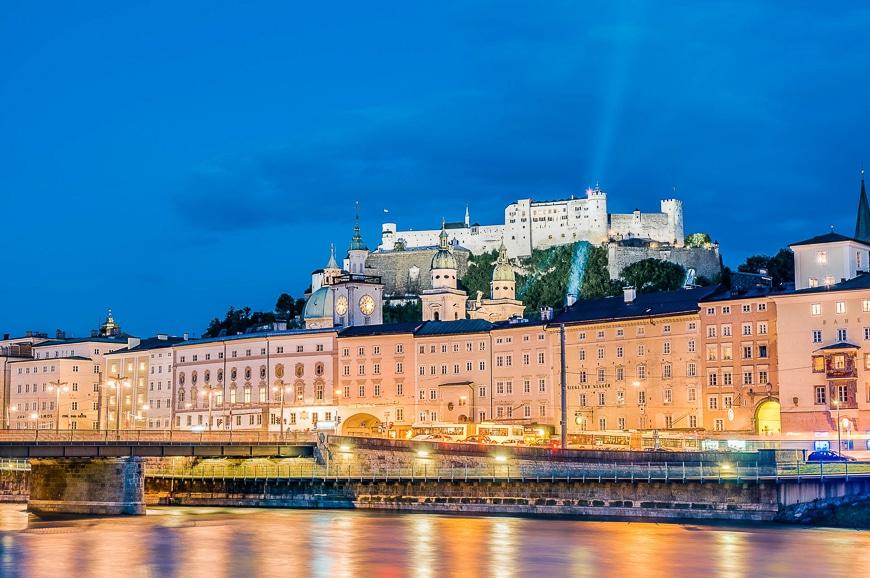 El Río Salzach a su paso por Salzburgo