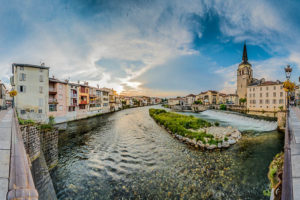 Le Salat river in Saint Girons, France