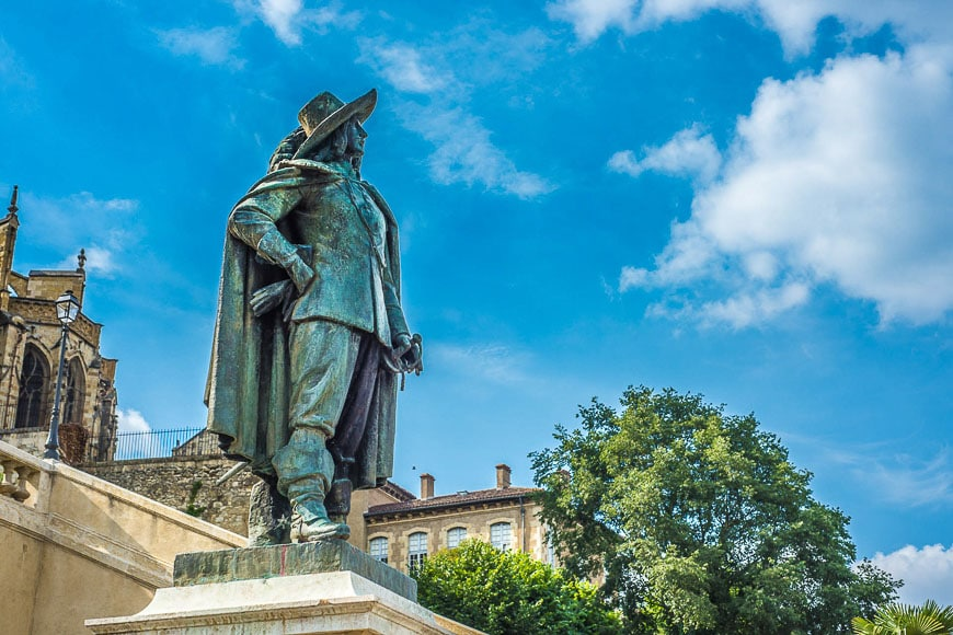 D'artagnan Statue in Gers, Southern France.