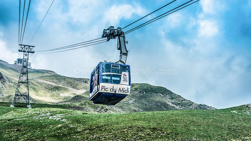 Cableway in Pic du Midi, France