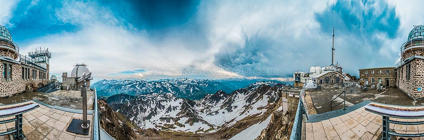 South western viewpoint of Pic du Midi, France